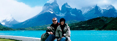 1996 Joan Pedragosa and Beta Albuixech in Torres del Paine, Chile.